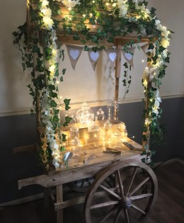 Rustic Cart – Decorated – The Wedding Players