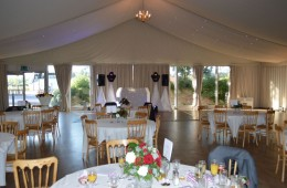 The Wedding Players – Woodland Castle Marquee – Wedding White